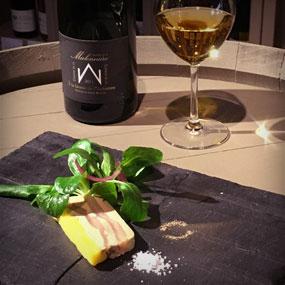 """Foie gras aux poires du Jardin de l'Abbaye avec notre Coteaux du Layon Beaulieu """"A la faveur de l'Automne"""""""