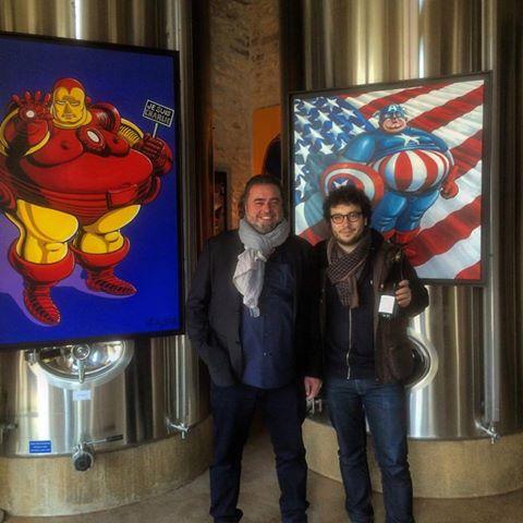Avec notre artiste pour la 4ème édition de la Foire Internationale d'Art Actuel dans les Chais