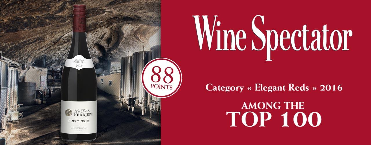Petite Perrière récompensée au Wine Spectator