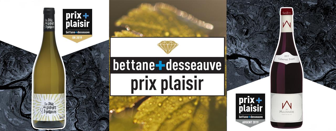 prix plaisir bettane+desseauve 2019 saget la perriere domaine des grandes esperances chateau de la mulonniere